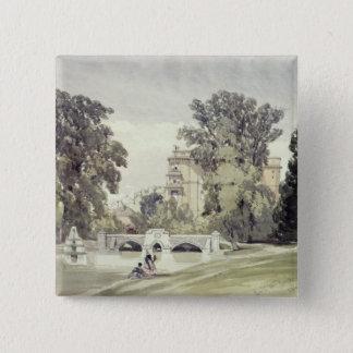 West End of the Serpentine, Kensington Gardens 15 Cm Square Badge