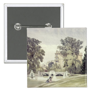 West End of the Serpentine, Kensington Gardens 15 Cm Square Badge