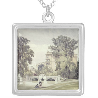 West End of the Serpentine, Kensington Gardens Silver Plated Necklace