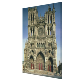 West Facade, c.1220-70 (photo) (for details see 94 Canvas Print
