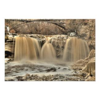 West Falls of the Black River, Elyria, Ohio Photo Art