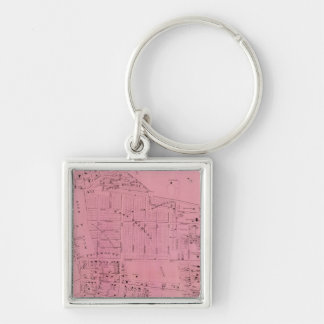 West Farms Silver-Colored Square Key Ring