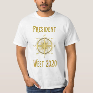 West for President 2020 compass Tshirt