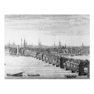 West Front of London Bridge, 1749 Postcard