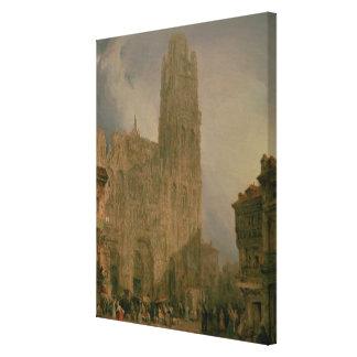 West Front of Notre Dame, Rouen Canvas Print