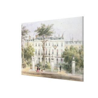 West front of Sir Robert Peel's House Canvas Print
