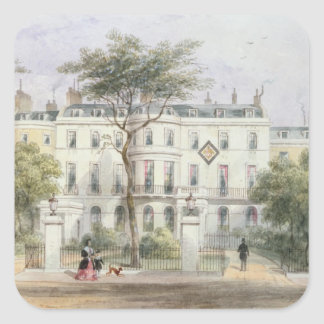 West front of Sir Robert Peel's House Square Sticker