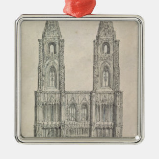 West Front of Strasbourg Cathedral Christmas Ornament