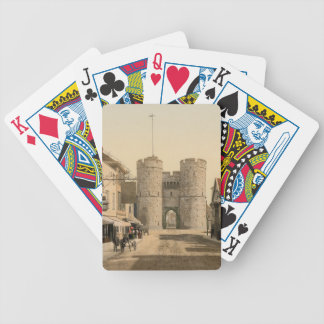 West Gate, Canterbury, Kent, England Bicycle Playing Cards