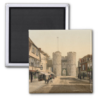 West Gate, Canterbury, Kent, England Square Magnet