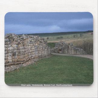 West gate, Vindolanda, Roman Fort, Northumberland, Mouse Pad