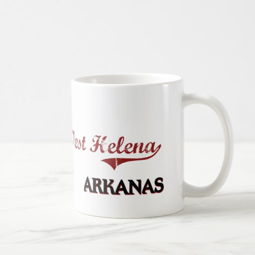 West Helena Arkansas City Classic Basic White Mug