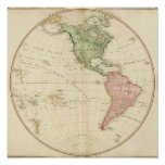 West Hemisphere map Posters