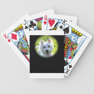 West Highland Terrier Bicycle Playing Cards