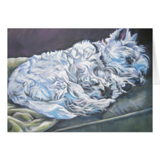West Highland Terrier blank notecard westie