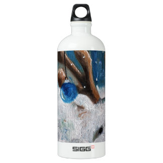 West Highland Terrier Blue Christmas Westie Dog Water Bottle
