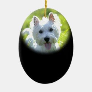 West Highland Terrier Ceramic Oval Decoration