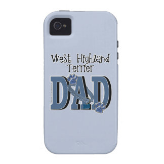 West Highland Terrier DAD Vibe iPhone 4 Case