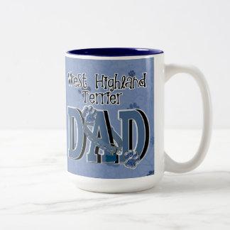 West Highland Terrier DAD Two-Tone Coffee Mug
