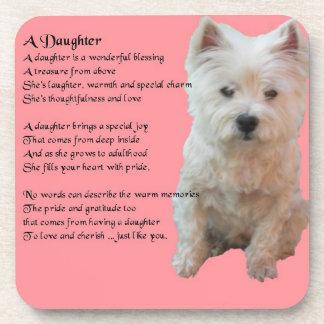 West Highland Terrier _ Daughter Poem coaster
