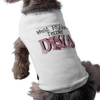 West Highland Terrier DIVA Doggie Tshirt