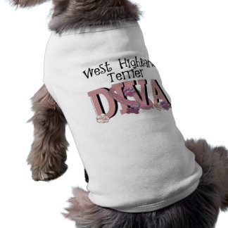 West Highland Terrier DIVA Sleeveless Dog Shirt