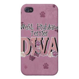 West Highland Terrier DIVA iPhone 4/4S Covers