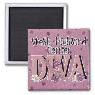 West Highland Terrier DIVA Magnet