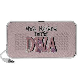 West Highland Terrier DIVA iPhone Speaker