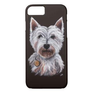 West Highland Terrier Dog Pastel Pet Illustration iPhone 7 Case
