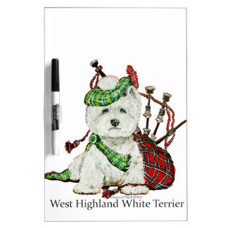 West Highland Terrier Dry Erase Board
