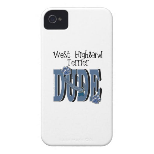 West Highland Terrier DUDE Case-Mate iPhone 4 Cases