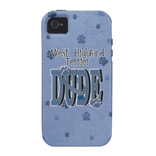 West Highland Terrier DUDE iPhone 4/4S Case