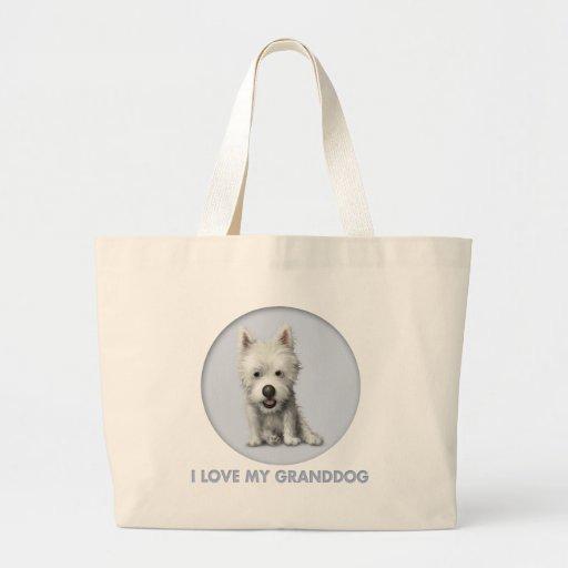 West Highland Terrier Granddog Tote Bags