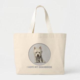 West Highland Terrier Granddog Large Tote Bag