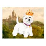 West Highland Terrier Princess / Prince Postcard