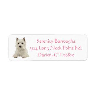 West Highland Terrier Puppy Dog Pink