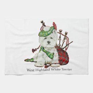 West Highland Terrier Tea Towel