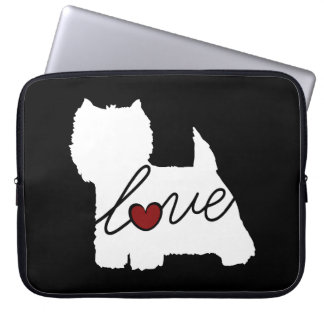 West Highland Terrier (Westie) Love Laptop Computer Sleeve