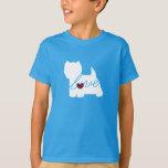 West Highland Terrier (Westie) Love T-shirts