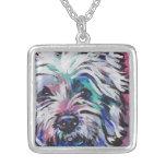 West Highland Terrier Westie pop art necklace