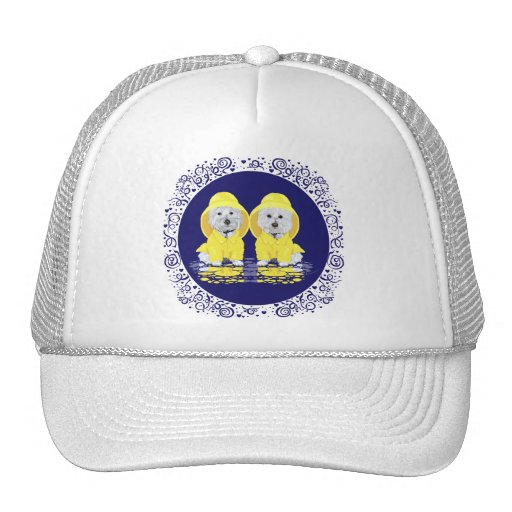 West Highland Terriers April Showers Trucker Hats