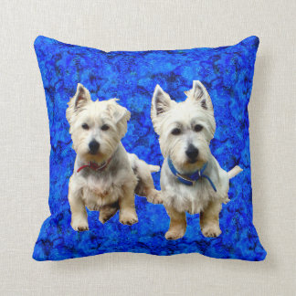 West Highland Terriers Throw Pillow. Cushion
