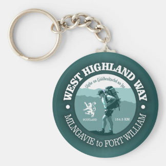 West Highland Way Basic Round Button Key Ring