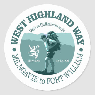 West Highland Way Classic Round Sticker