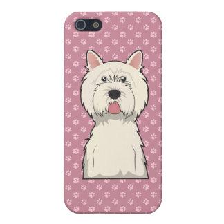 West Highland West Terrier Cartoon iPhone 5 Case