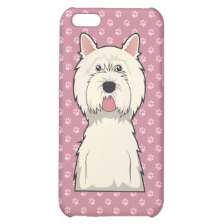 West Highland West Terrier Cartoon Cover For iPhone 5C
