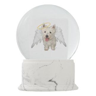 West Highland White Terrier Angel Snow Globe