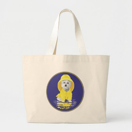 West Highland White Terrier April Showers Canvas Bags