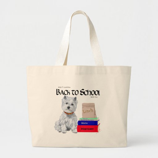 West Highland White Terrier Back to School Bags